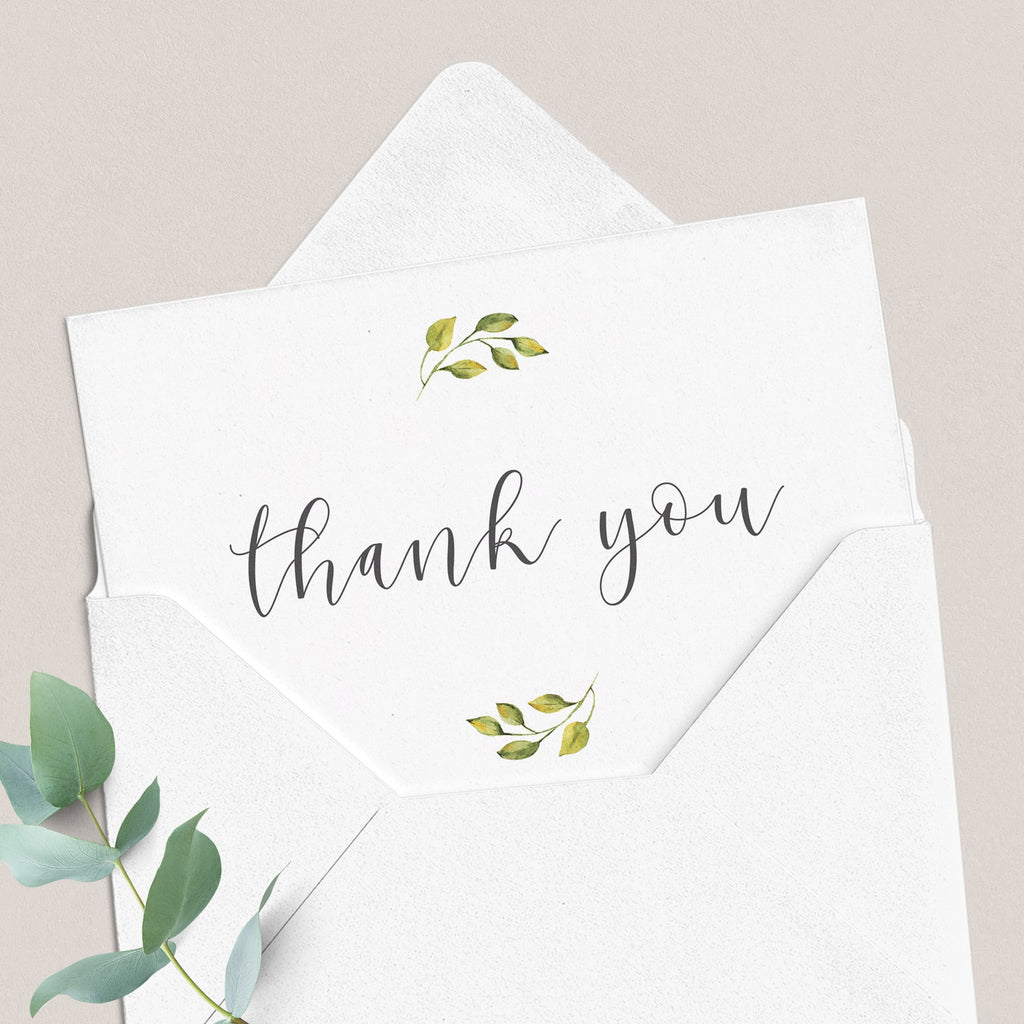 Folded thank you card printable wedding thanks cards by LittleSizzle