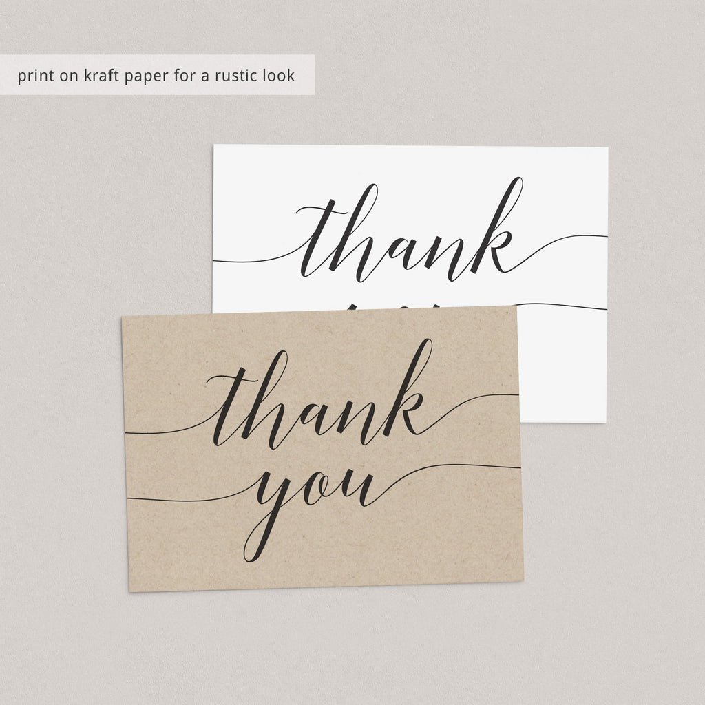 Rustic thank you cards printable by LittleSizzle