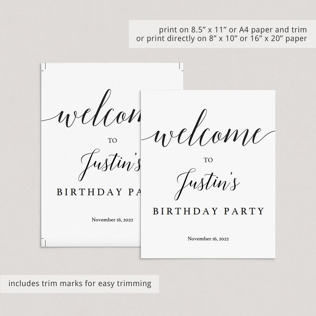 Welcome to birthday template by LittleSizzle