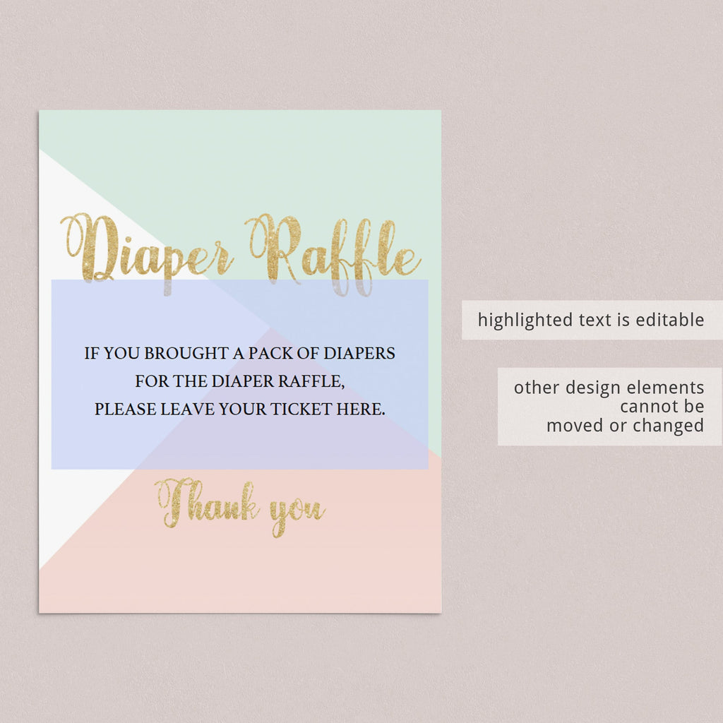 Instant download pastel baby sprinkle decor by LittleSizzle