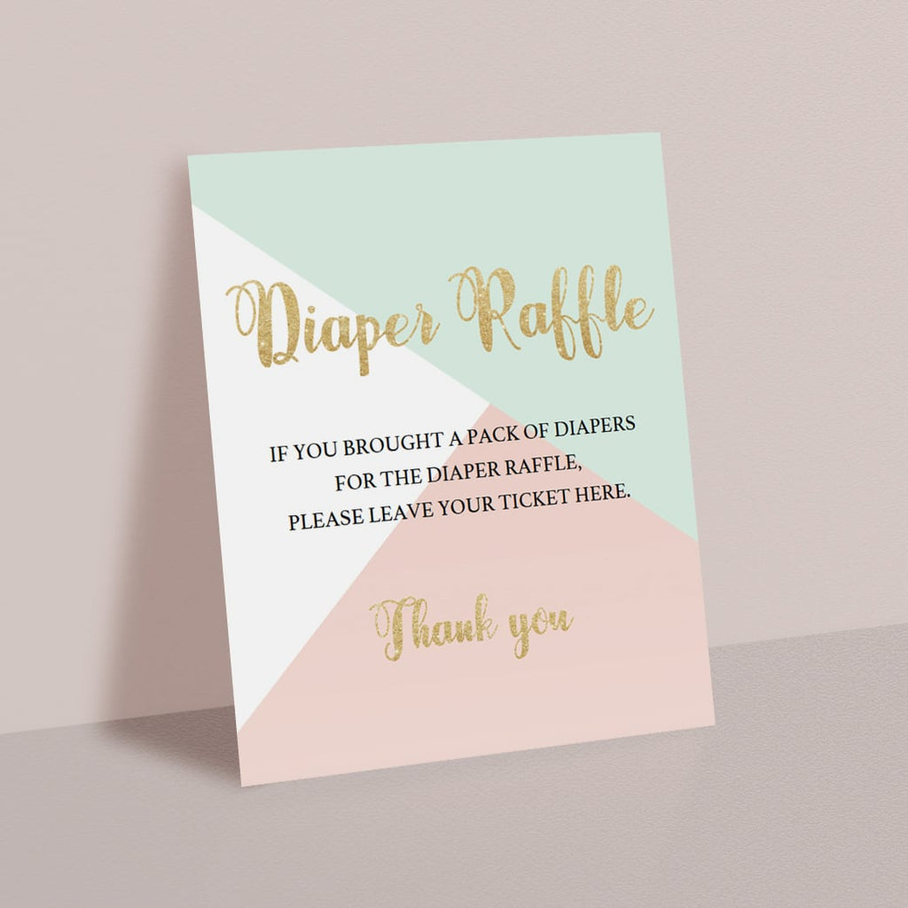 Baby shower diaper raffle printable by LittleSizzle