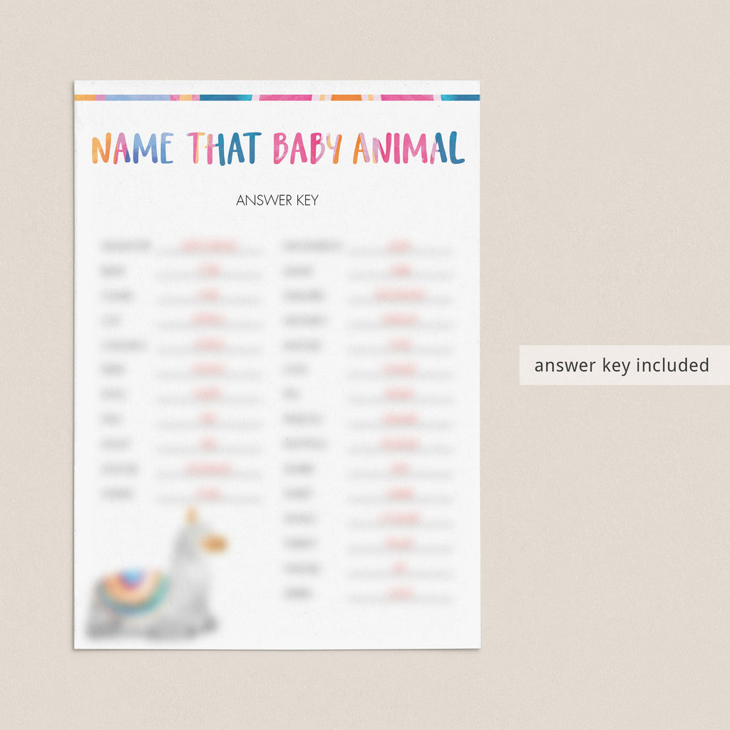 name that baby animal quiz anwers by LittleSizzle