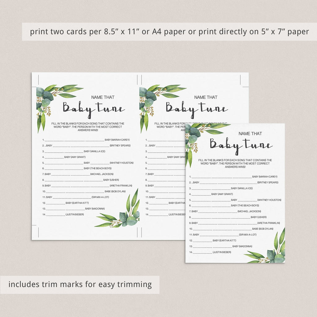 Name the baby song game for neutral baby shower ideas by LittleSizzle