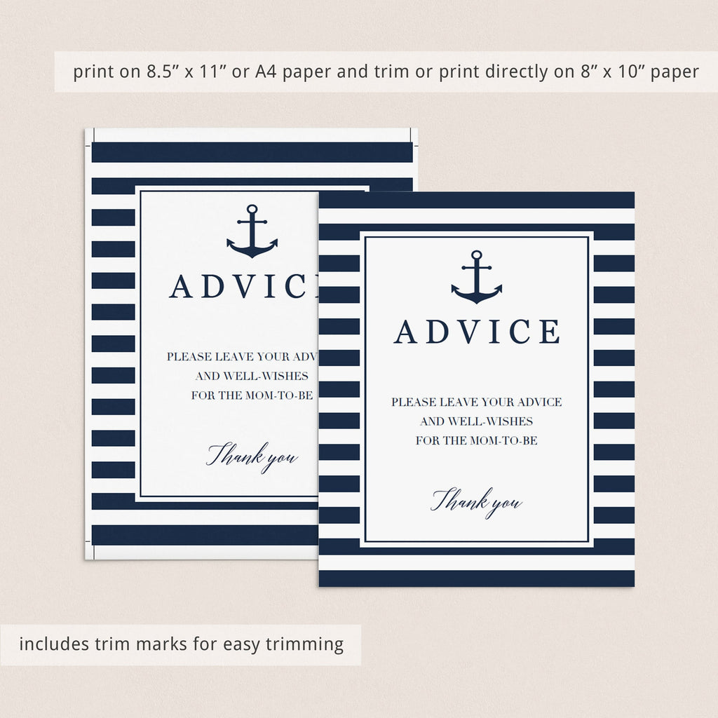 Anchor baby shower decorations printable by LittleSizzle