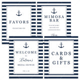 nautical anchor bridal shower signs package instant downloads by LittleSizzle
