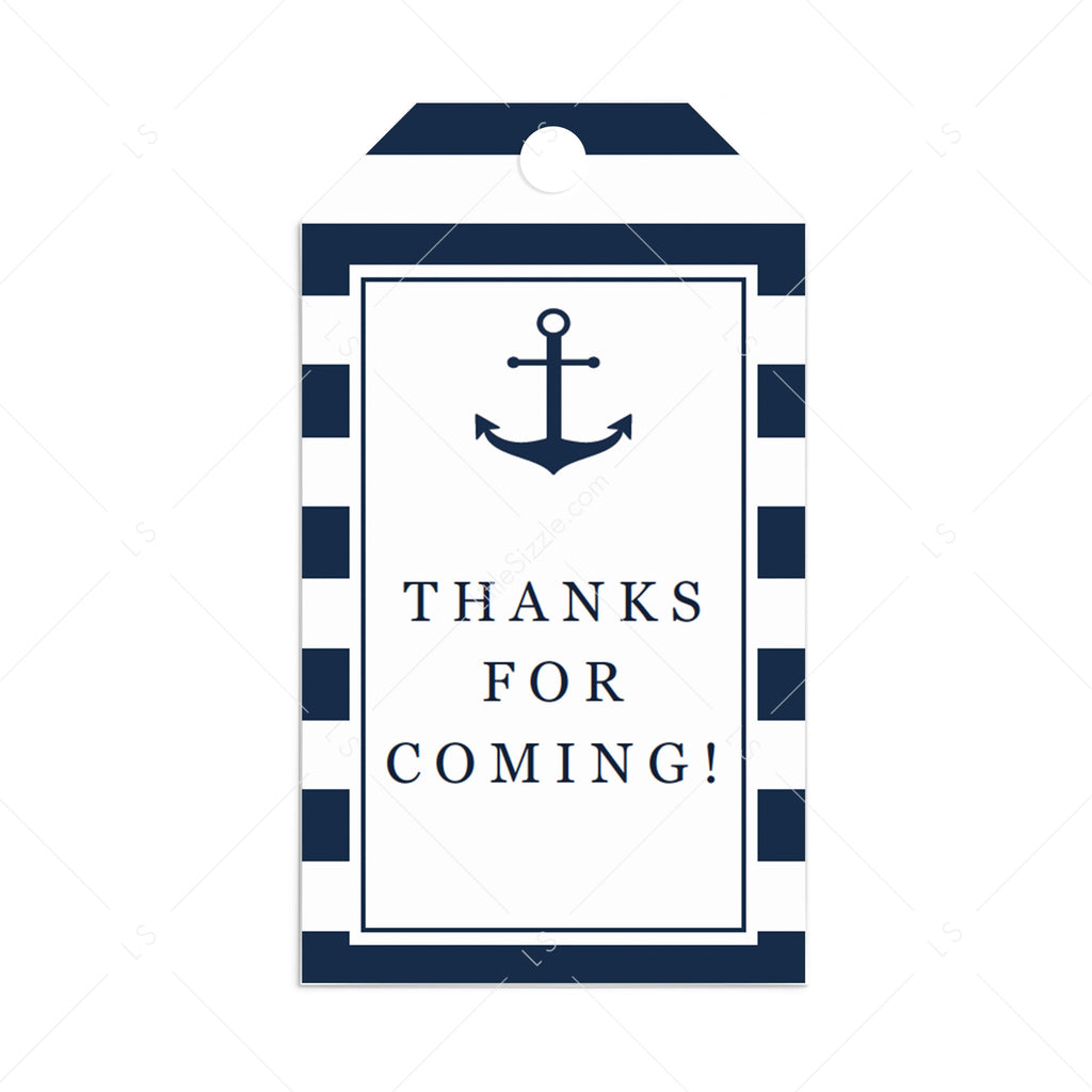 Nautical favor tag template by LittleSizzle