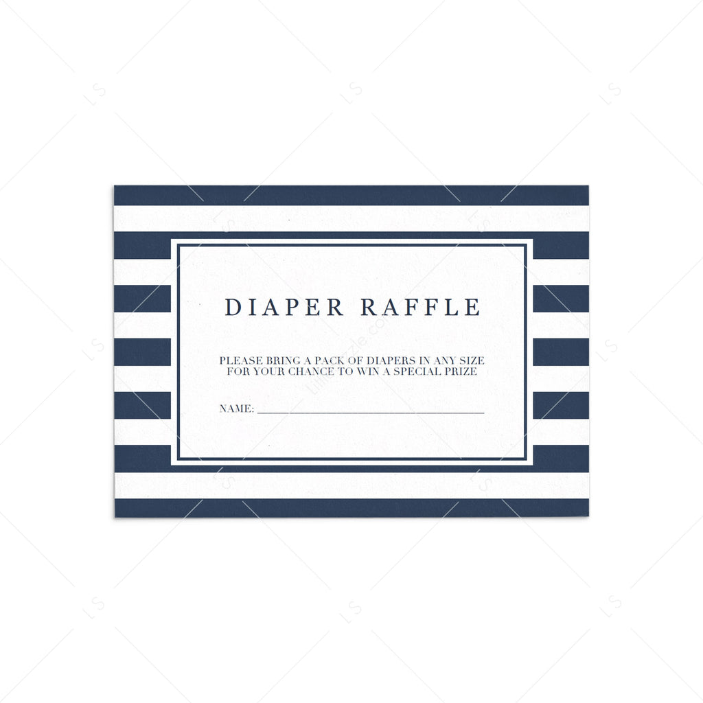 Boy shower diaper raffle sign printable by LittleSizzle