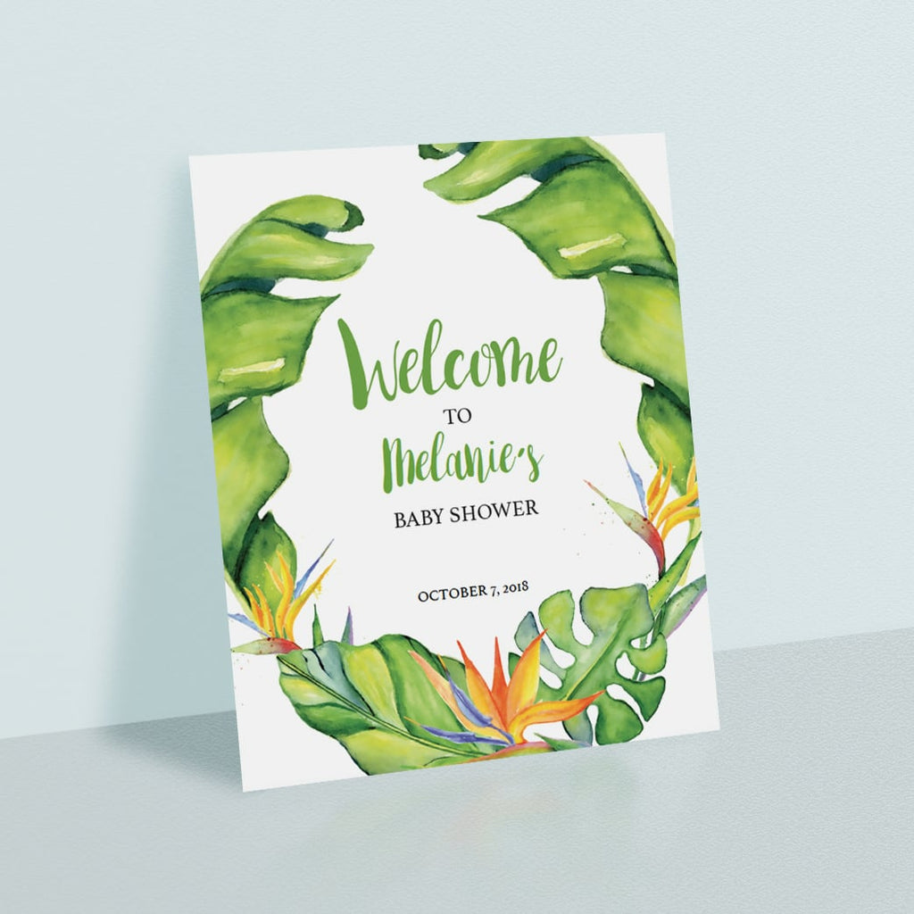 Tropical party welcome sign printable by LittleSizzle
