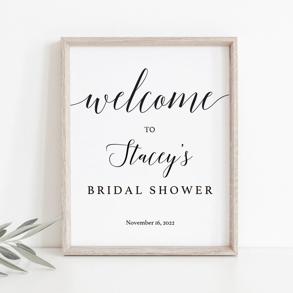 Bridal shower welcome sign template instant download by LittleSizzle