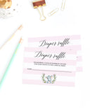 Diaper raffle ticket printable for elephant girl baby shower by LittleSizzle
