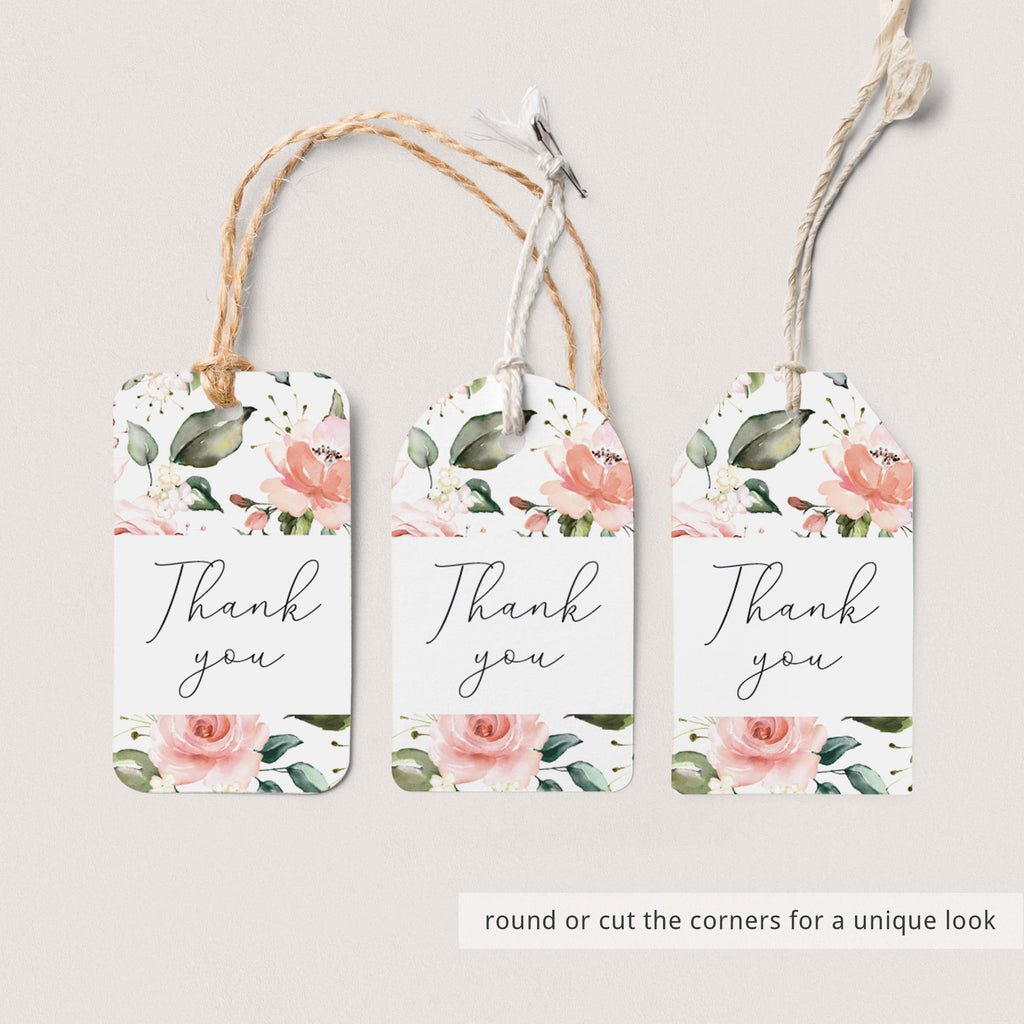 Floral tags printable instant download by LittleSizzle