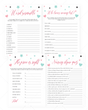 Pink baby girl shower game bundle printable by LittleSizzle