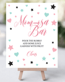 Pastel baby sprinkle decorations momosa bar printable by LittleSizzle