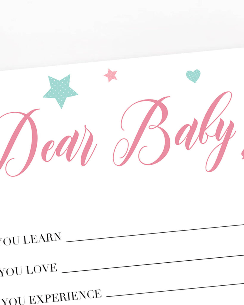 Pink star baby shower game printable by LittleSizzle