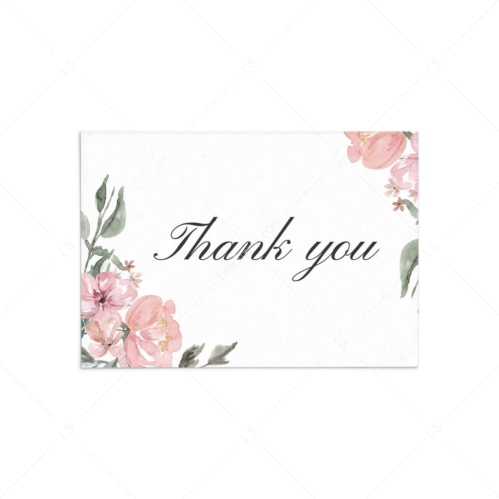 Printable pink and green thank you cards by LittleSizzle