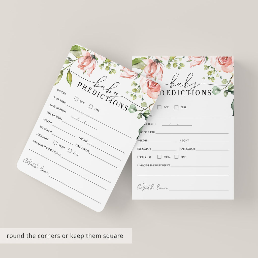 Printable Baby Shower Games Bundle Watercolor Floral