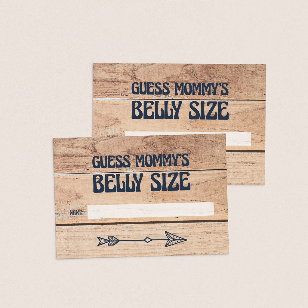 Guess mommy's bump size cards printable by LittleSizzle
