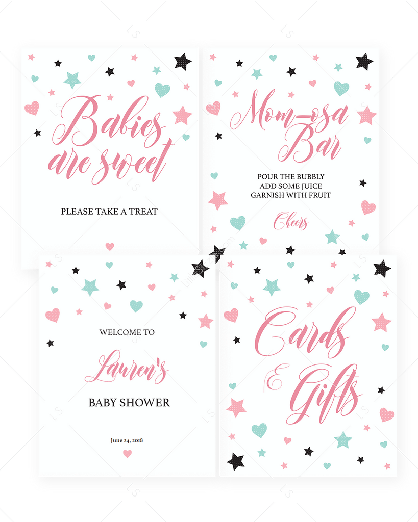 Sweet baby shower decorations for girl by LittleSizzle
