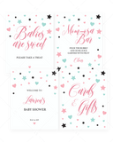 Printable Girl Baby Shower Decor Pack with Pink Signs