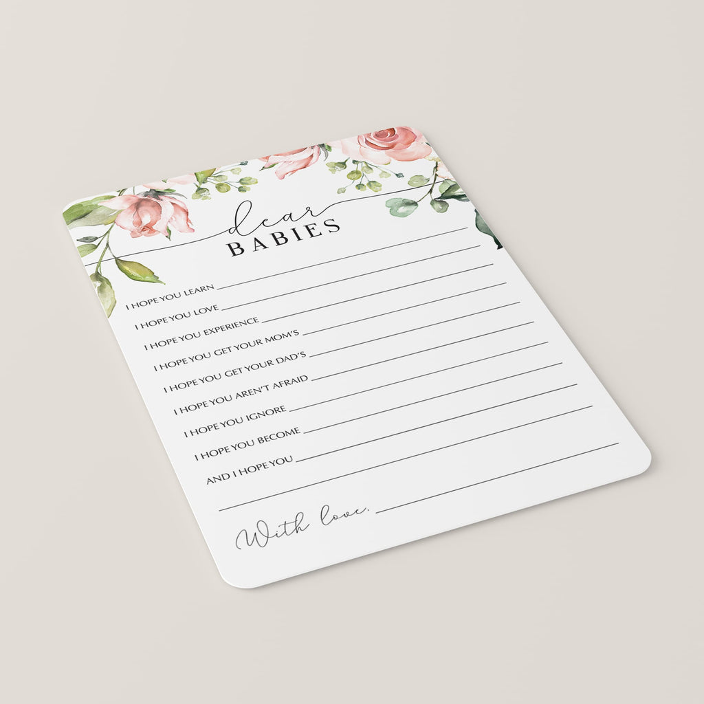 Dear Babies Twins Baby Shower Games Floral