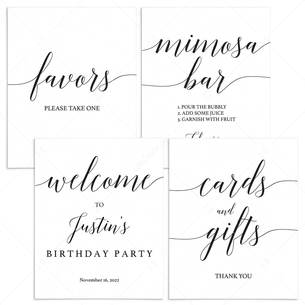 Minimal Birthday Decorations Bundle Printable by LittleSizzle