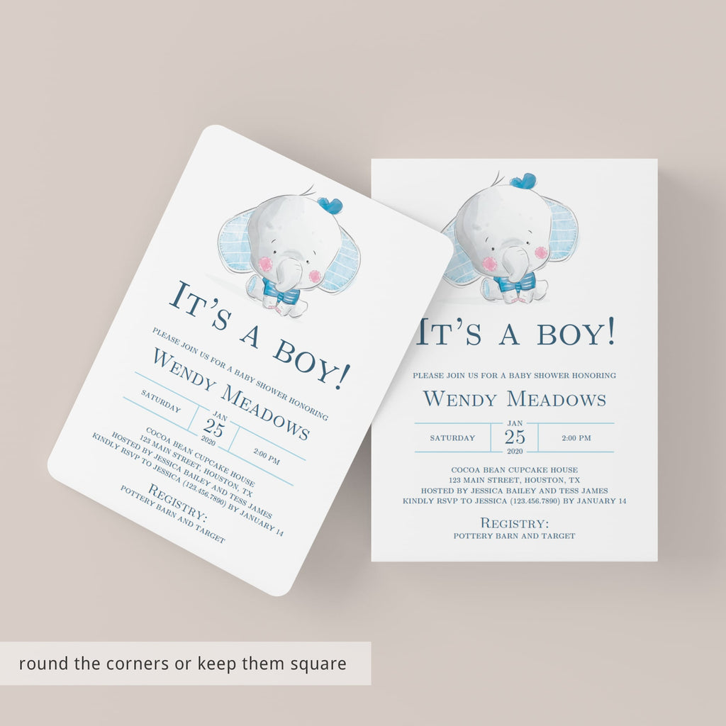 Its a boy baby shower invitation digital template by LittleSizzle