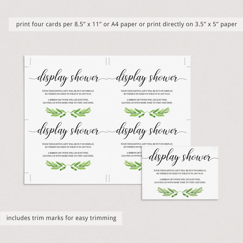 Printable display shower enclosure cards by LittleSizzle