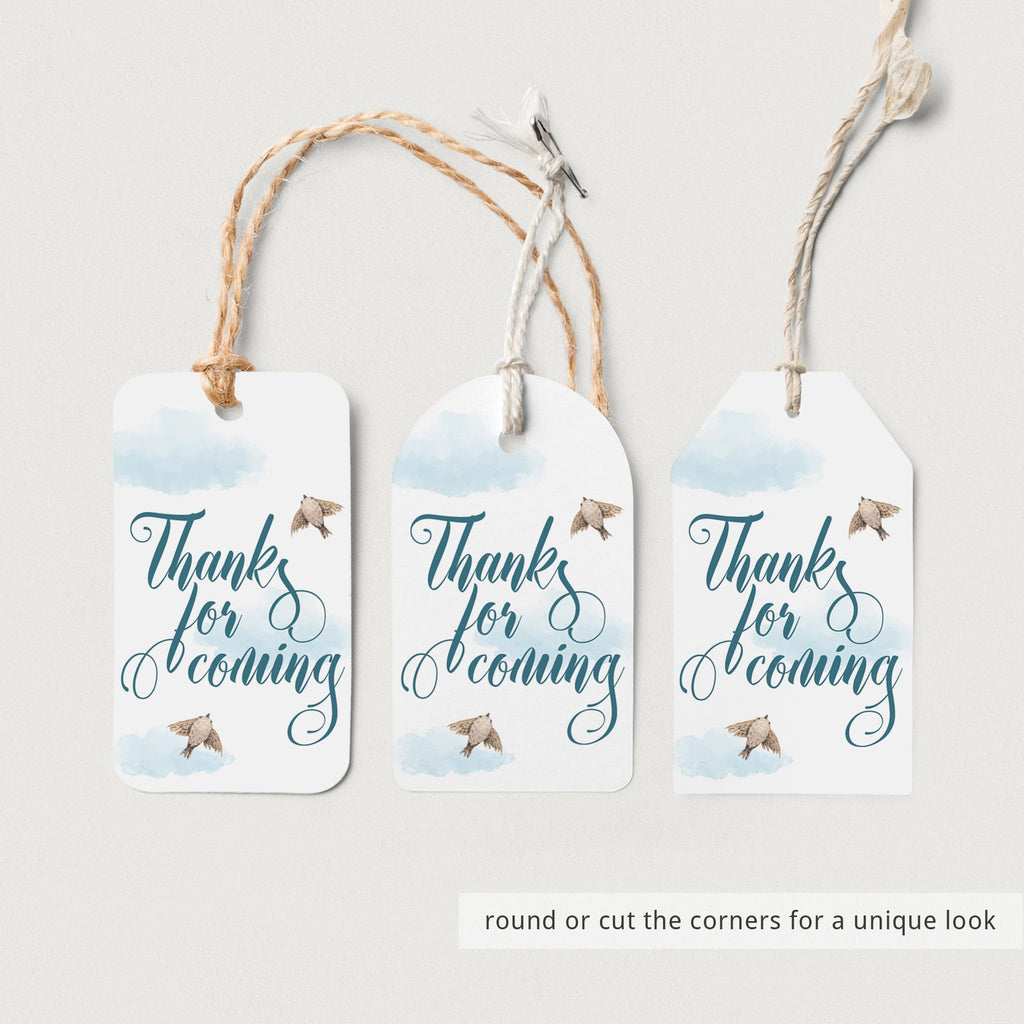 Instant download thanks tag for blue party by LittleSizzle