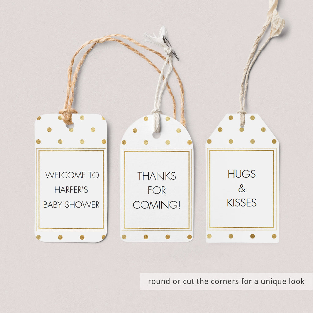DIY favor tags gold template by LittleSizzle