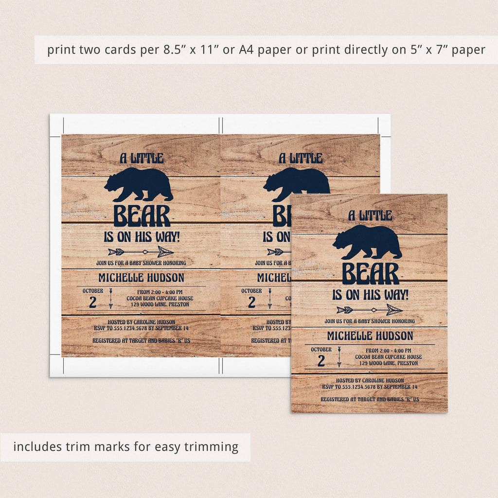 Rustic animal baby shower invitation template for boy by LittleSizzle