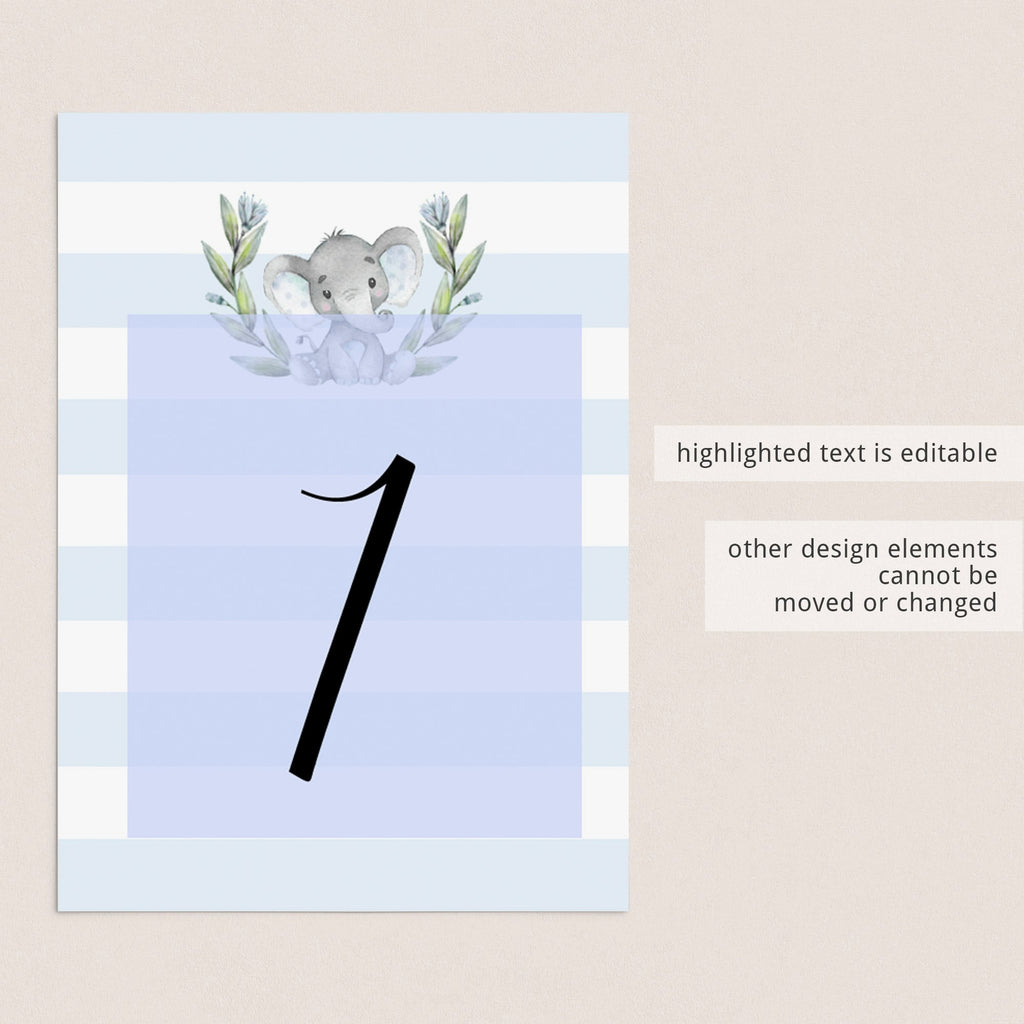 Elephant table decorations templates by LittleSizzle
