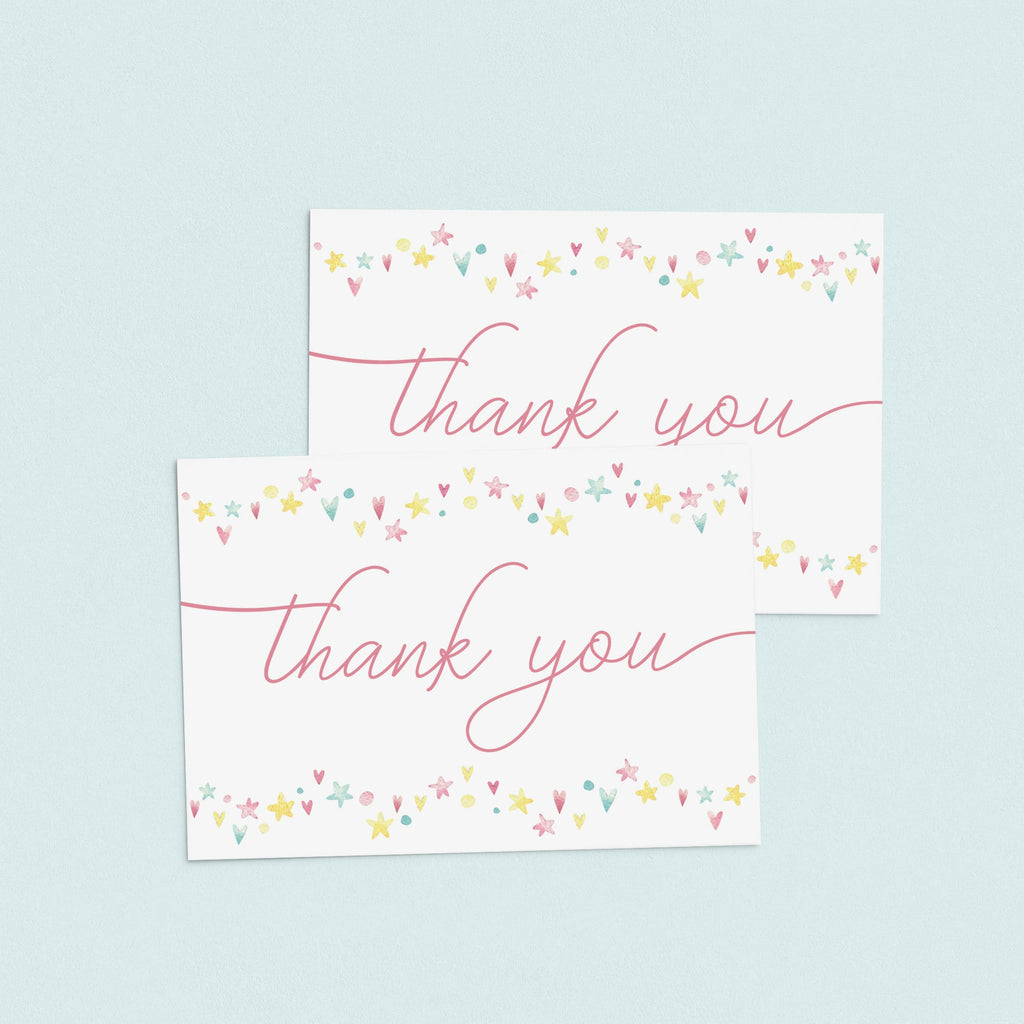 Pink shower thank you notes printable by LittleSizzle