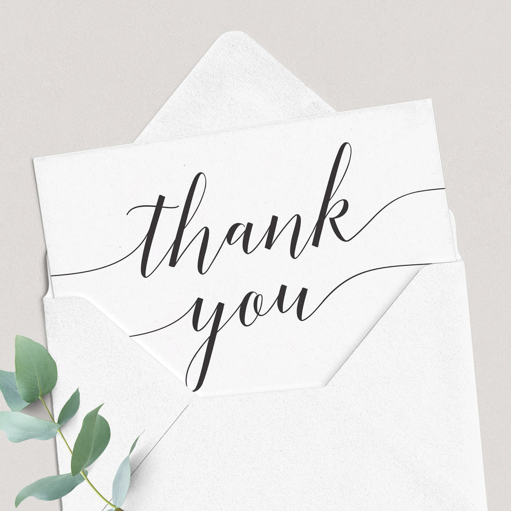 Calligraphy thank you cards by LittleSizzle
