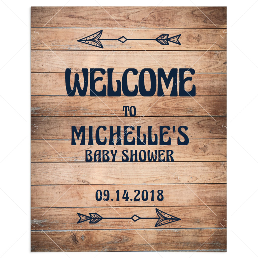Rustic baby shower welcome sign template by LittleSizzle