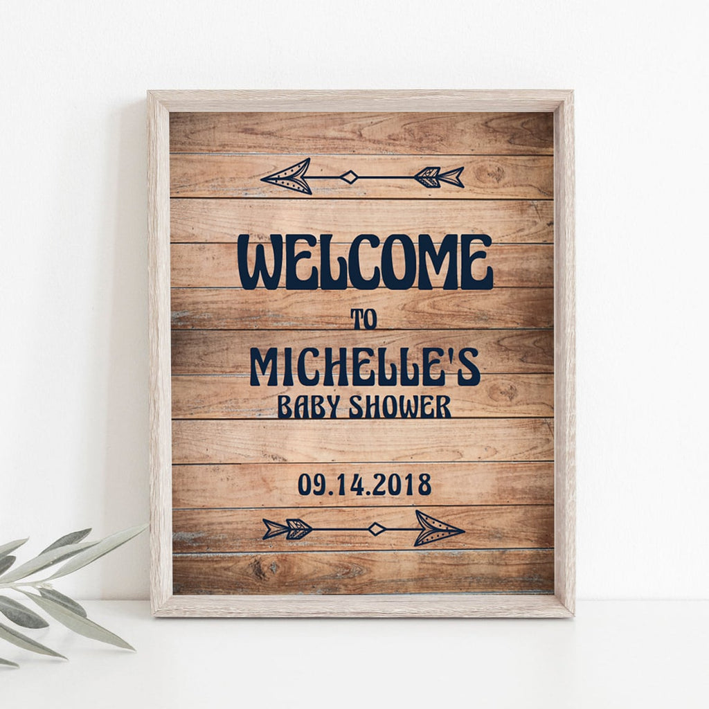 Rustic Baby Shower Welcome Sign Template