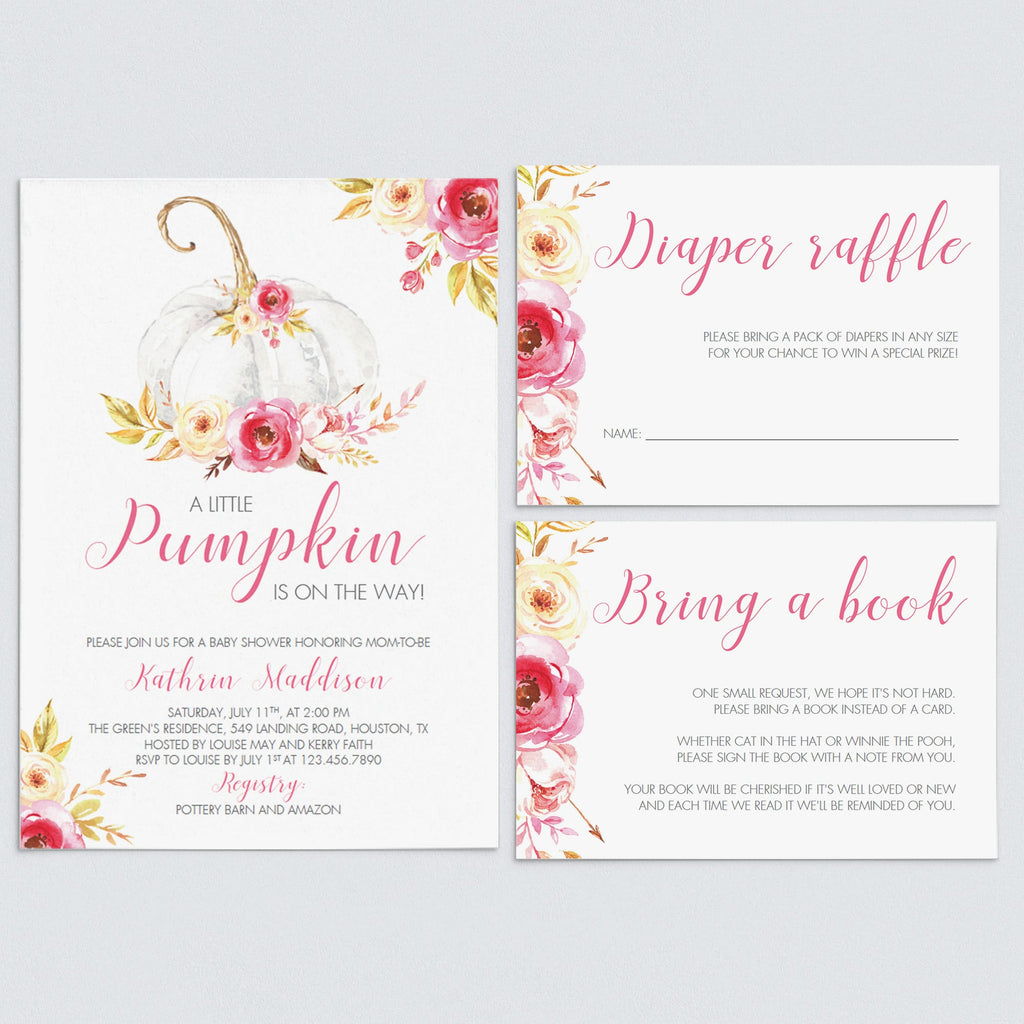 Little pumpkin baby shower invitation bundle by LittleSizzle