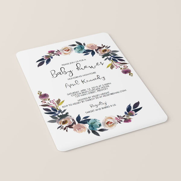 Bohemian Baby Shower Invitation Template