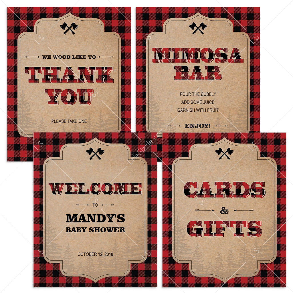 Lumberjack party decor package printable by LittleSizzle