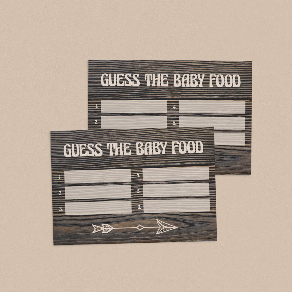 Guess the baby food game cards with wood background by LittleSizzle
