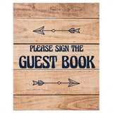 Rustic Party Decorations Printable Guest Book Sign