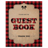 Lumberjack decorations sign the guest book table sign printable by LittleSizzle
