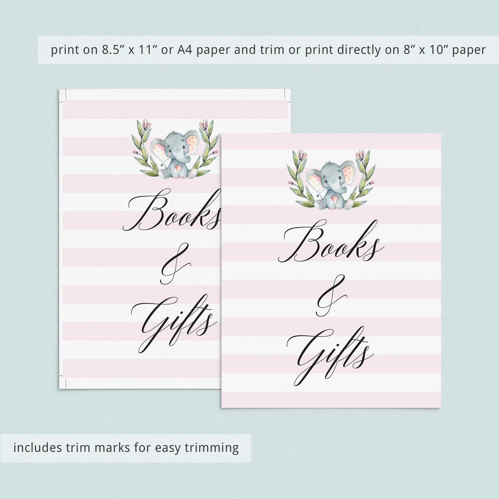 Books and gifts table signage pink and white theme by LittleSizzle