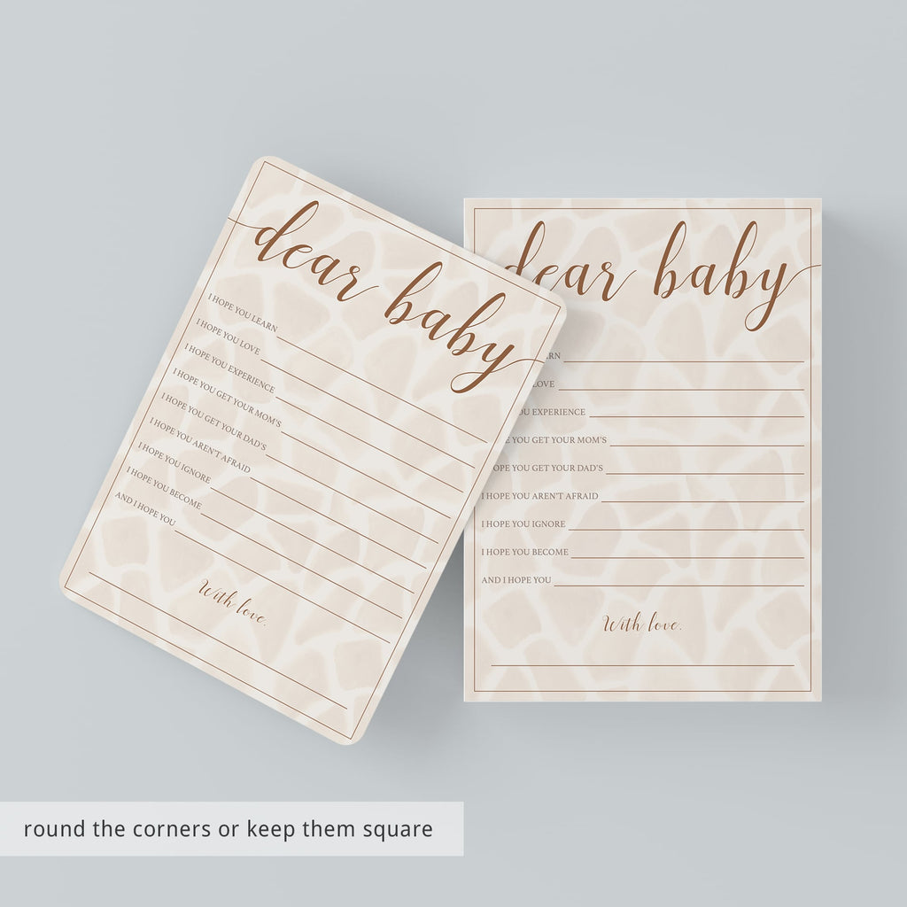 Neutral Safari Baby Shower Games Package Instant Download