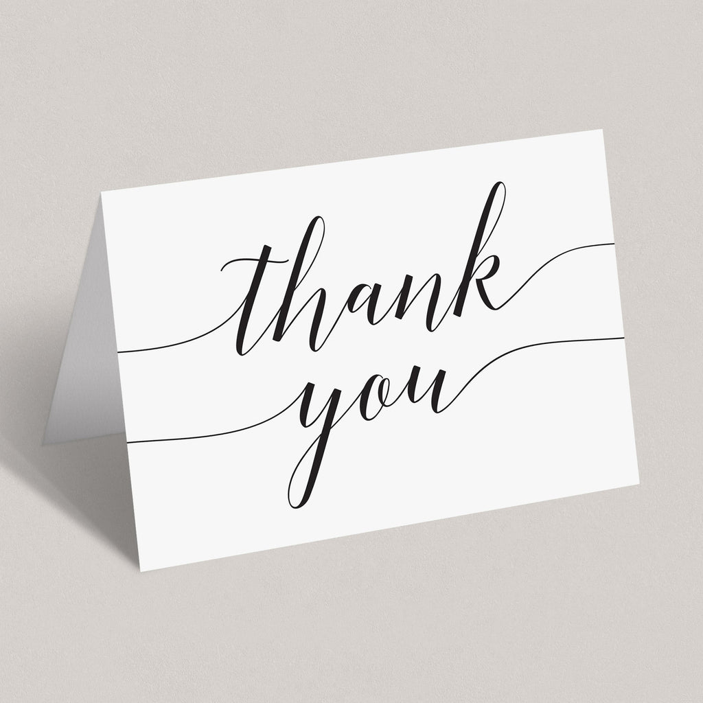 Simple thank you card instant download by LittleSizzle