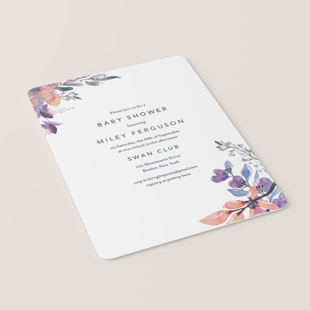 Instant downloadable invitations for girl baby shower party floral themed by LittleSizzle