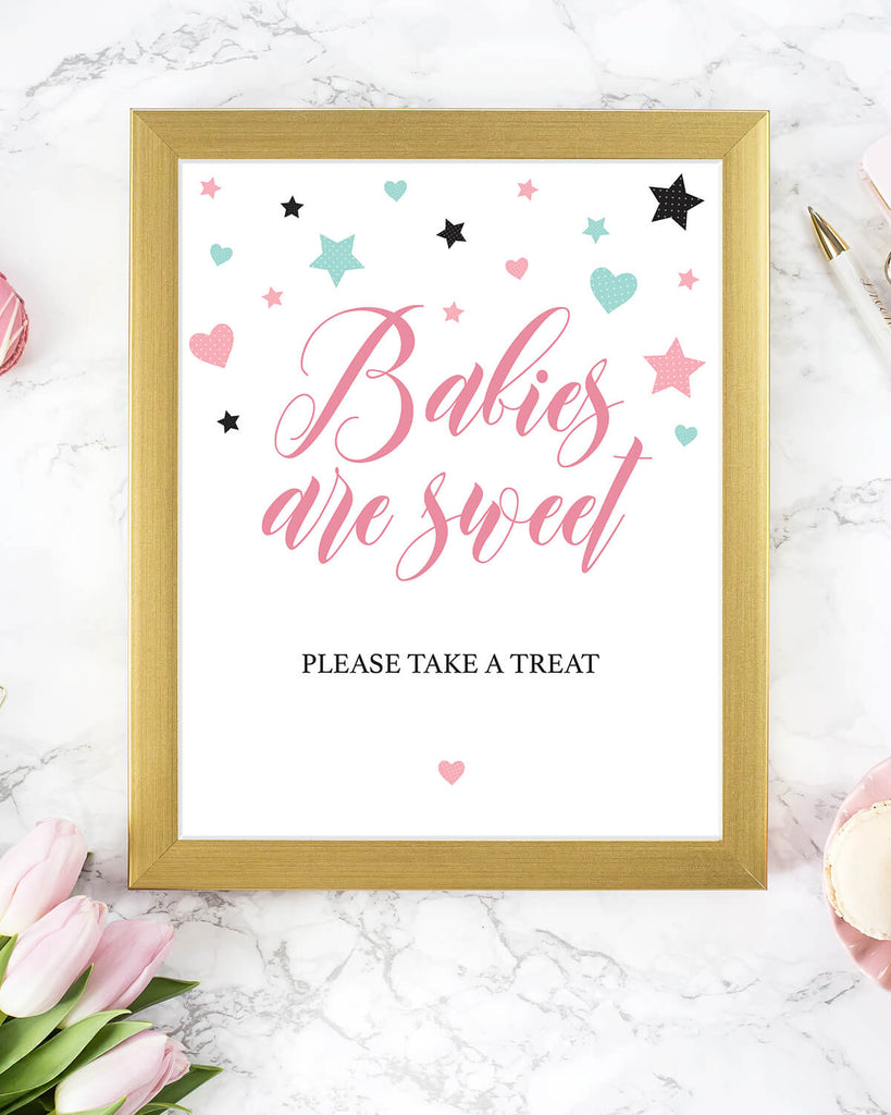 Sweet favors sign for girl baby shower printable by LittleSizzle