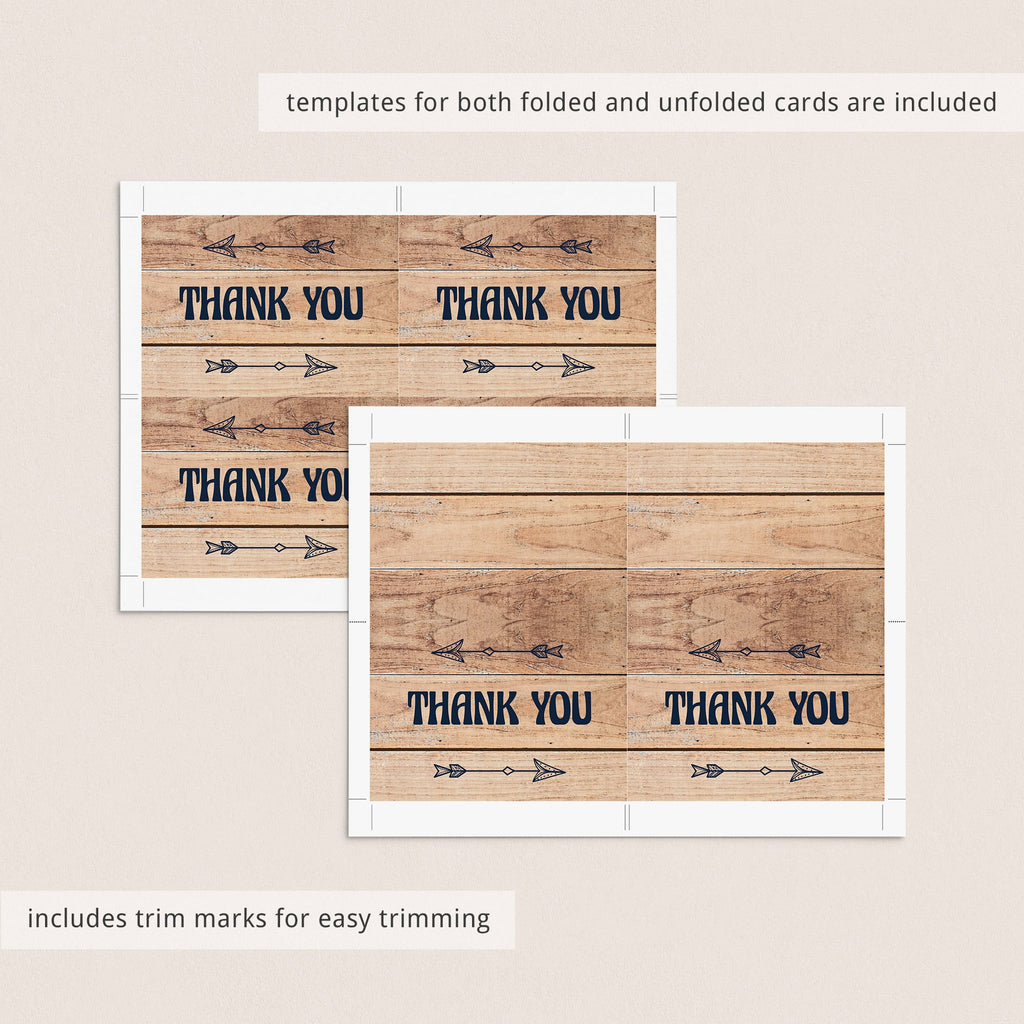 Forest shower party supplies printable thank you card by LittleSizzle