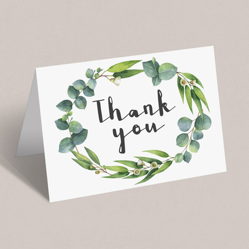 Printable flat and folded thank you notes by LittleSizzle