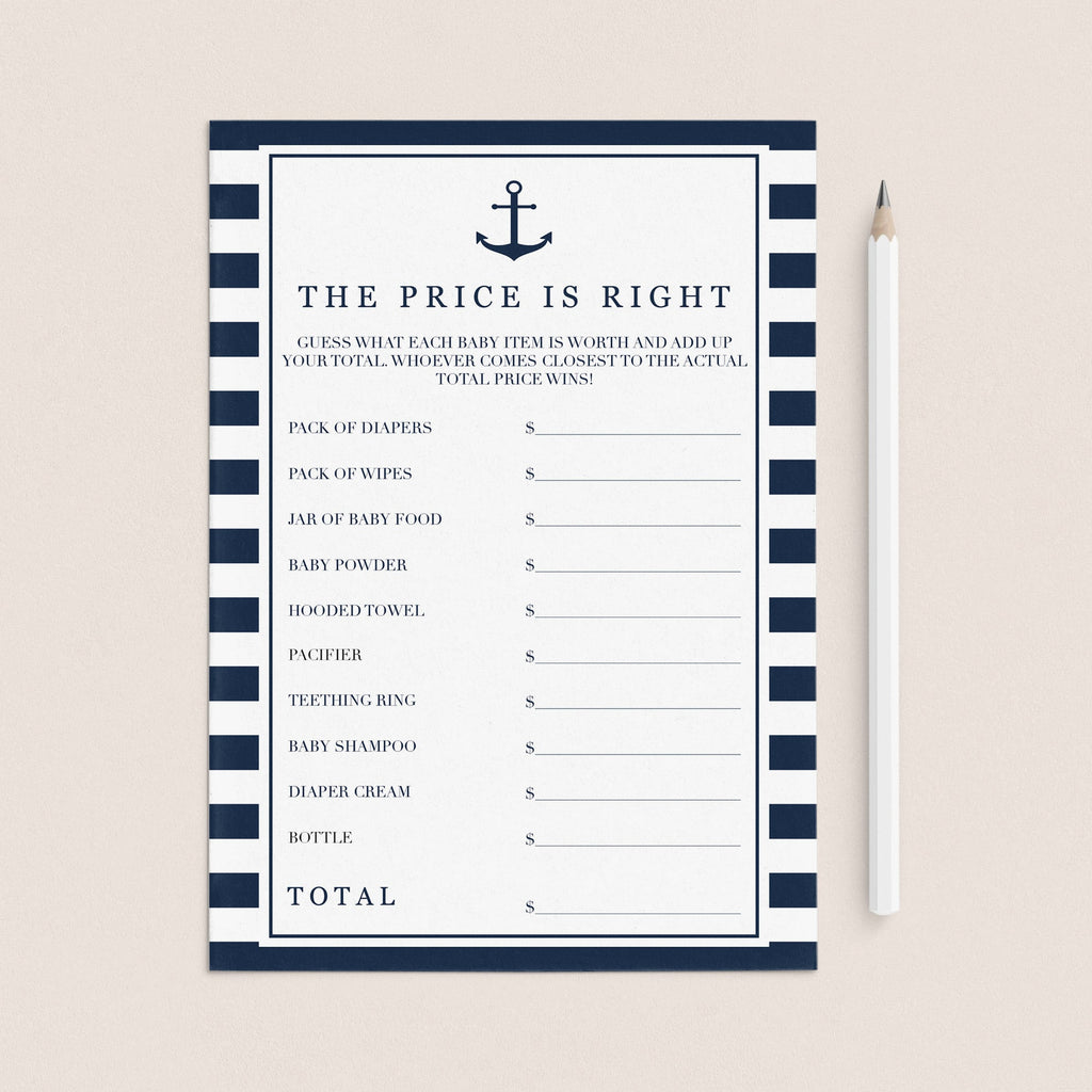 Nautical ideas for baby shower games by LittleSizzle