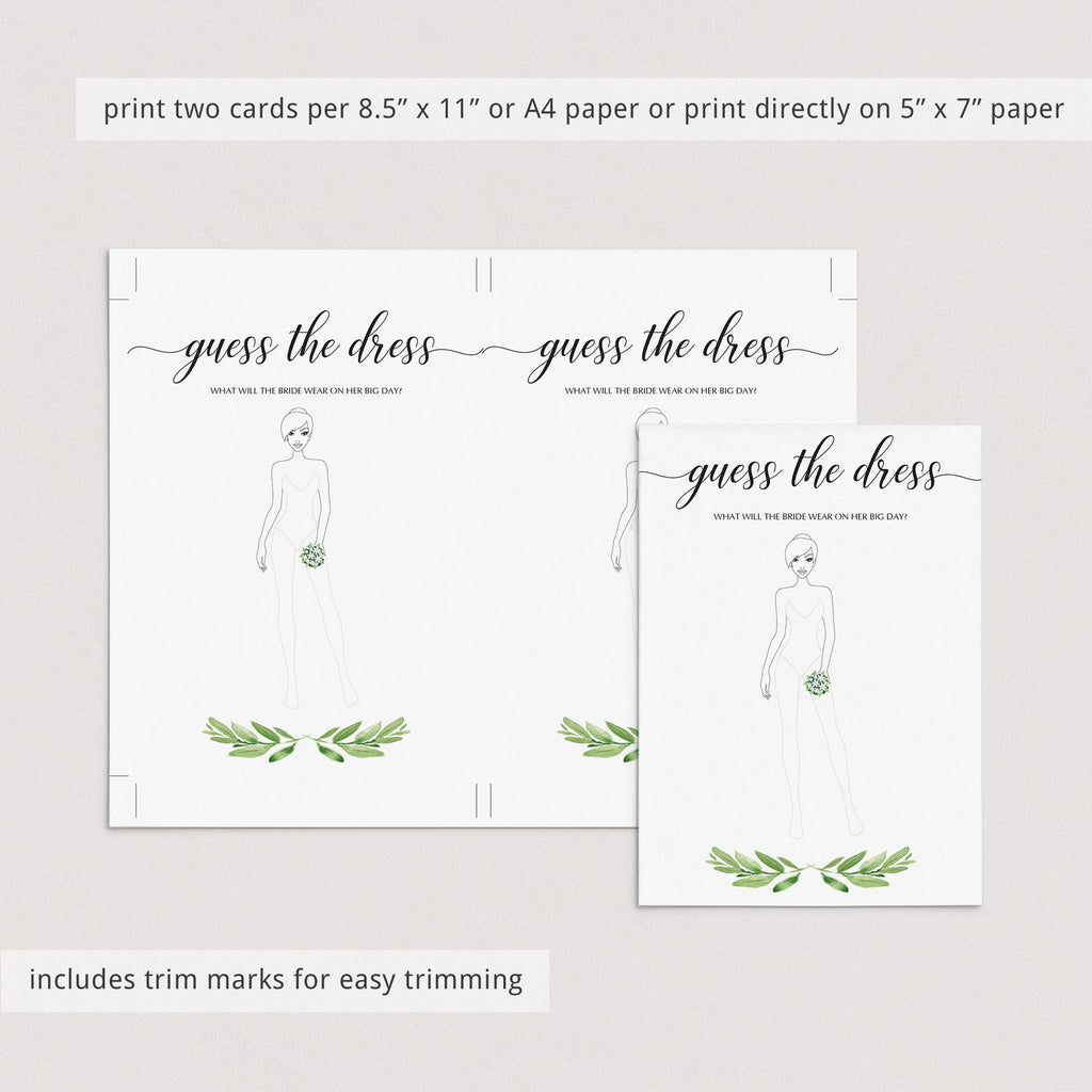 green bridal shower games printable greenery themed